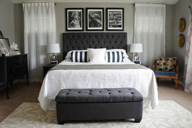 Gray and Black Bedroom