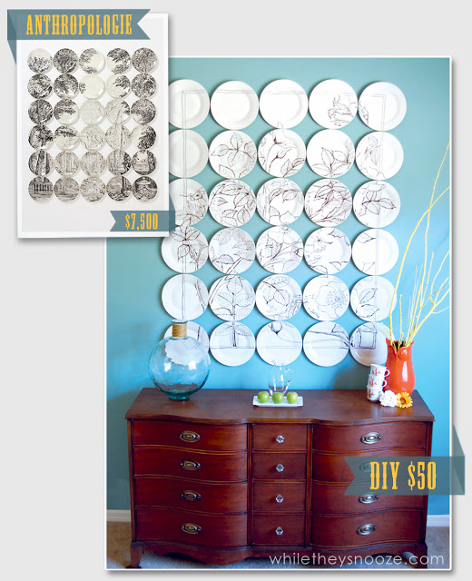 Anthropologie Plate Wall Art DIY