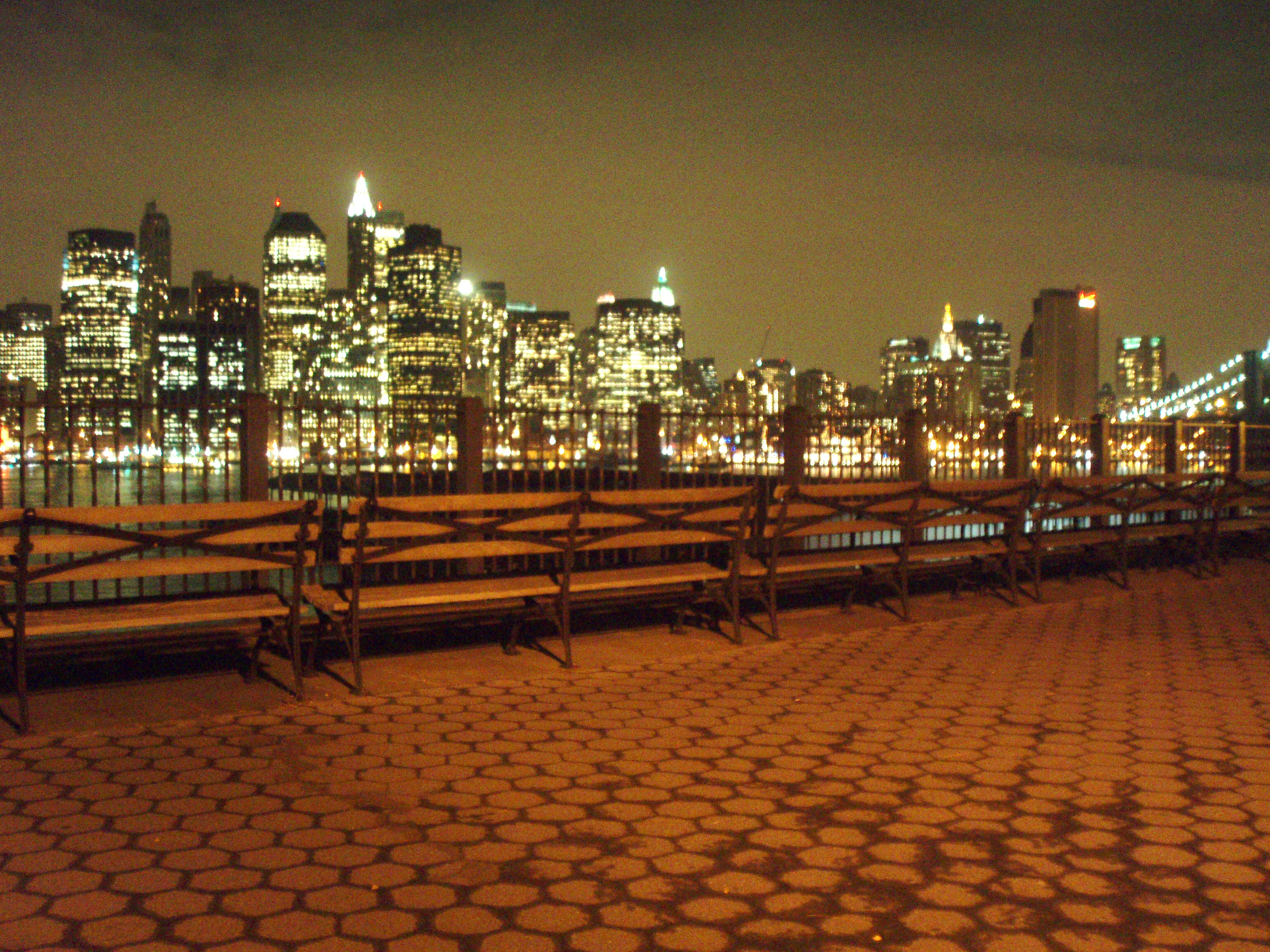 Brooklyn Promenade at Night