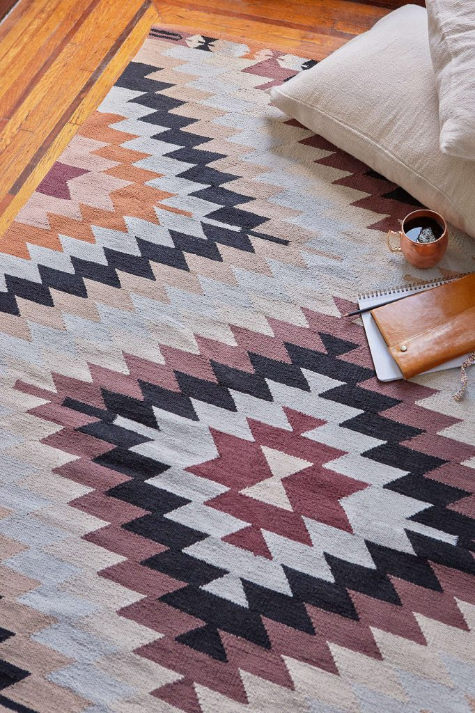 Trend Alert---Killim Woven Rug and Accessories