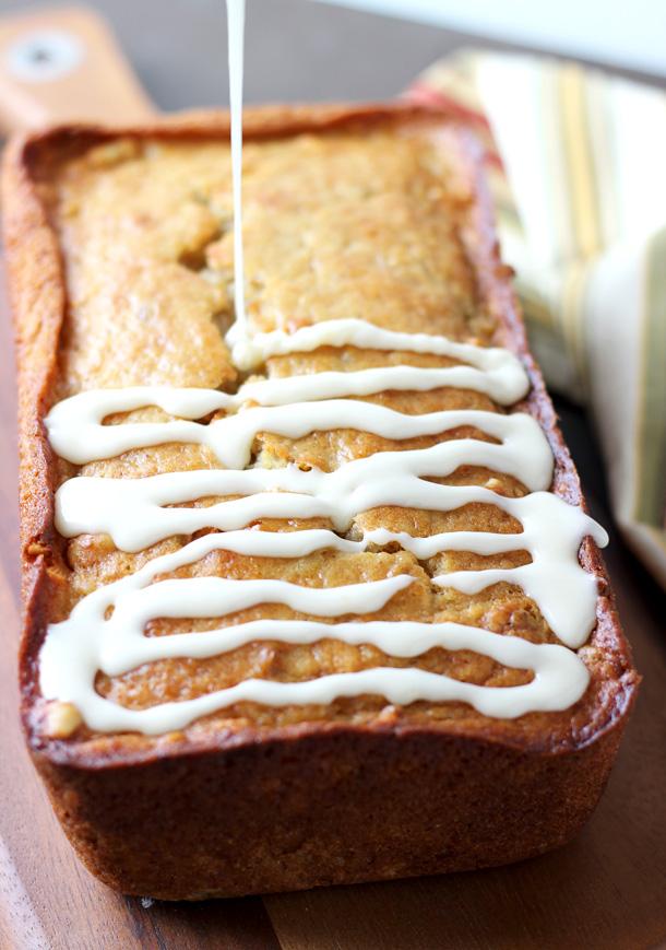 Try This---Pear Hazelnut Bread with Orange Maple Glaze