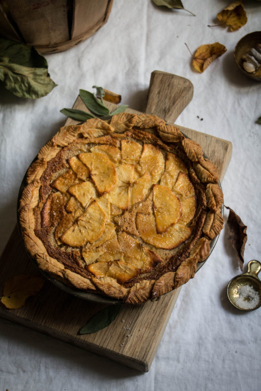 Salted Honey Apple Pie